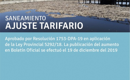 Saneamiento: Ajuste Tarifario